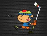 Dibujo Niño aprendiendo a jugar a hockey pintado por Socovos