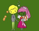 Dibujo Novios muy enamorados pintado por juanini