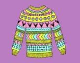 Jersey de lana estampado