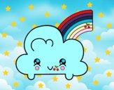 Dibujo Nube con arco iris kawaii pintado por Xime1252