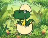 Dibujo Dino saliendo del huevo pintado por sebas2005