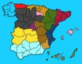 Dibujo Las provincias de España pintado por julioalvar