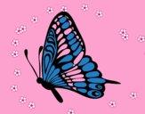 Mariposa dirección izquierda