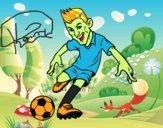 Dibujo Delantero de futbol pintado por Xxkenny3xx