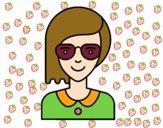 Chica con media melena