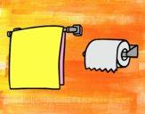 Toallero y papel higiénico