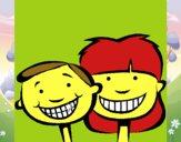 Niños con dientes sanos