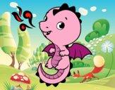 Un dragón bebé