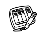 Dibujo de 5 rotuladores para colorear