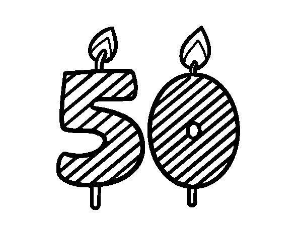 Dibujos Para Colorear E Imprimir De 50 Cumpleaños