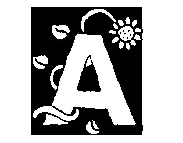 Dibujo de A para Colorear  Dibujosnet