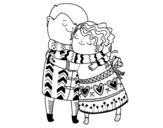 Dibujo de Abrazo para colorear