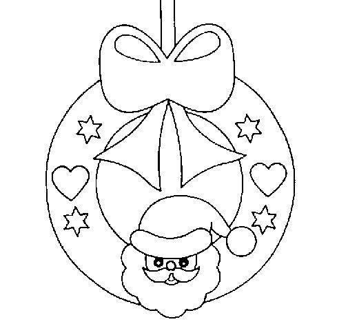Dibujo de adorno navide o para colorear for Adornos navidenos para dibujar
