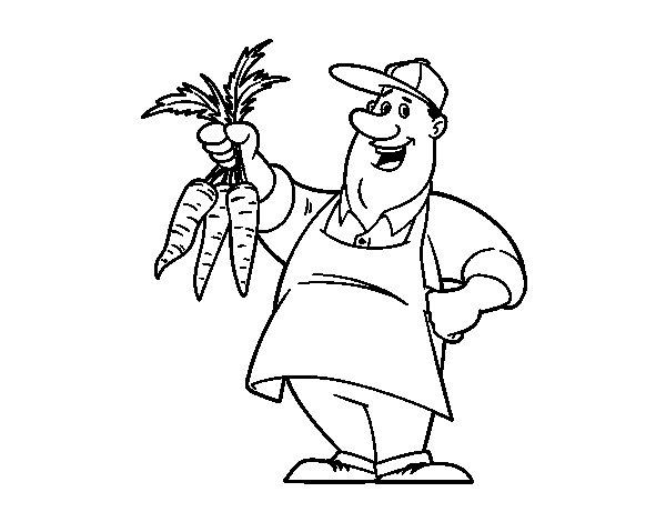 Dibujo de Agricultor para Colorear