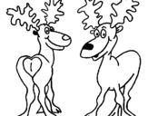 Dibujo de Alces para colorear