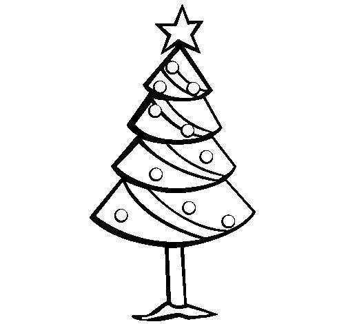 dibujo de rbol de navidad ii para colorear