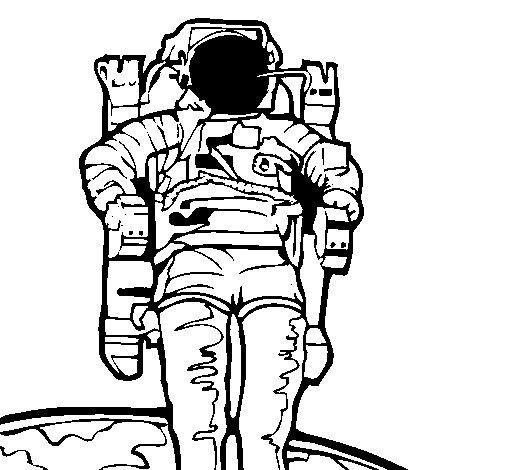 Dibujo de Astronauta para Colorear