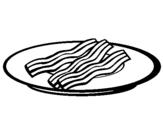 Dibujo de Bacón para colorear