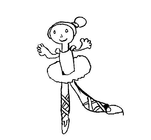 Dibujo de Bailarina para Colorear