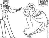 Dibujo de Barbie bailando para colorear