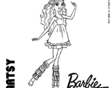 Dibujo de Barbie Fashionista 1