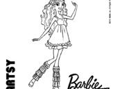 Dibujo de Barbie Fashionista 1 para colorear