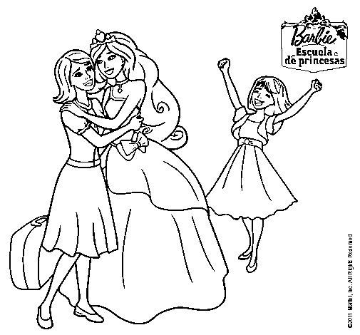 Dibujo de Barbie proclamada princesa para Colorear ...