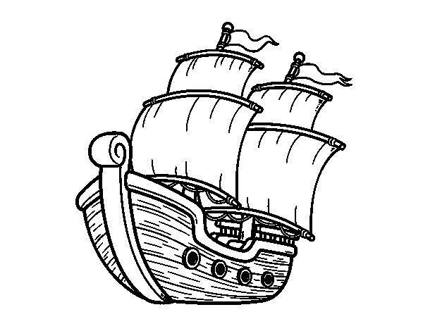 Dibujos infantiles de un barco de vela para imprimir y - Imagenes de barcos infantiles ...