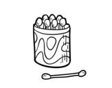 Dibujo de Bastoncillos para las orejas para colorear