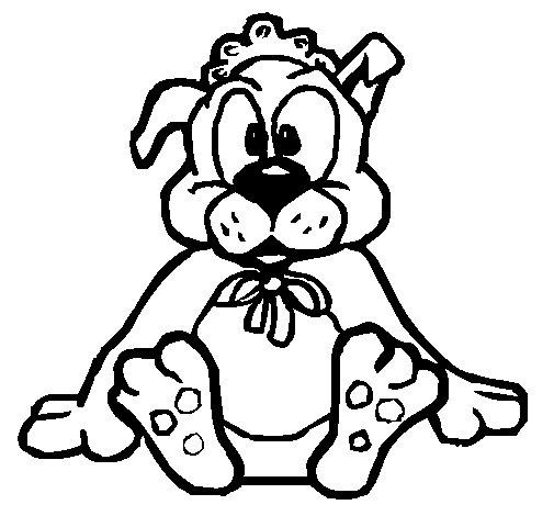 Dibujo de Bebe perro para Colorear
