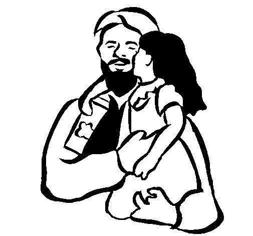 Dibujo de Beso paternal para Colorear