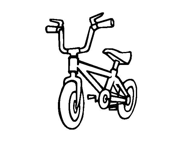 Dibujo de Bicicleta infantil para Colorear