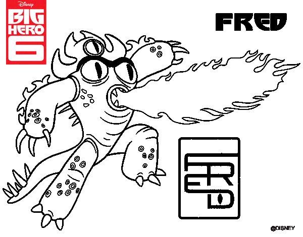 Dibujo de Big Hero 6 Fred para Colorear - Dibujos.net