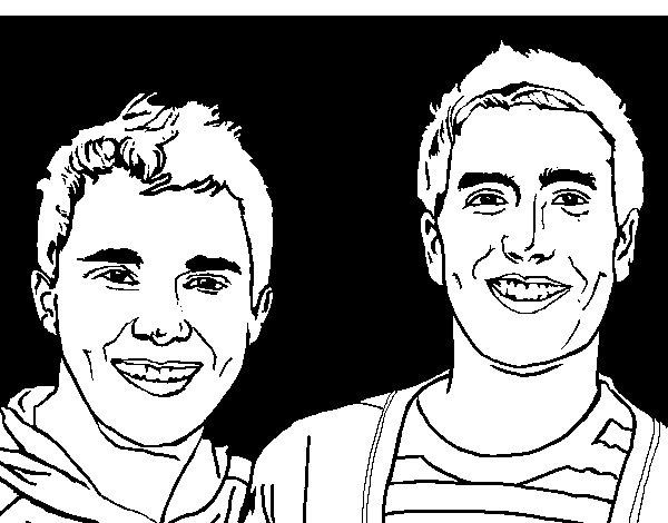 Dibujo de Big time Rush 3 para Colorear