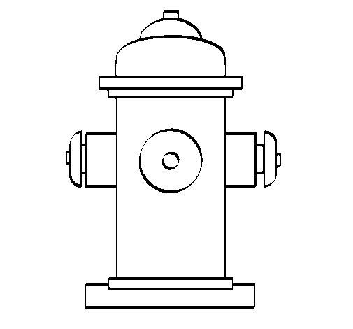Dibujo de Boca de incendio para Colorear