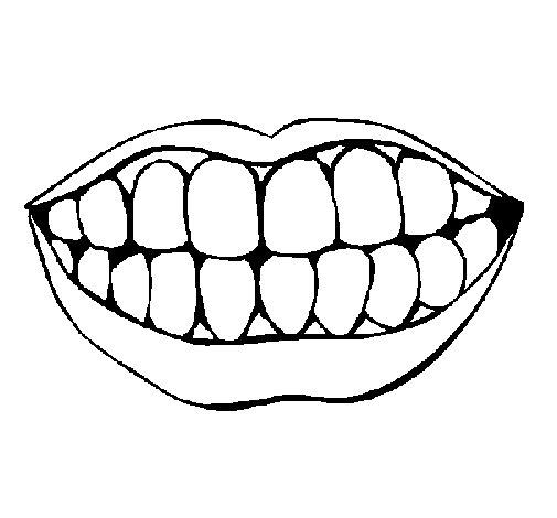 Dibujo de Boca y dientes para Colorear  Dibujosnet