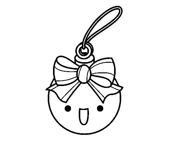 Dibujo de bola navide a para colorear - Dibujos para imprimir y colorear de navidad ...