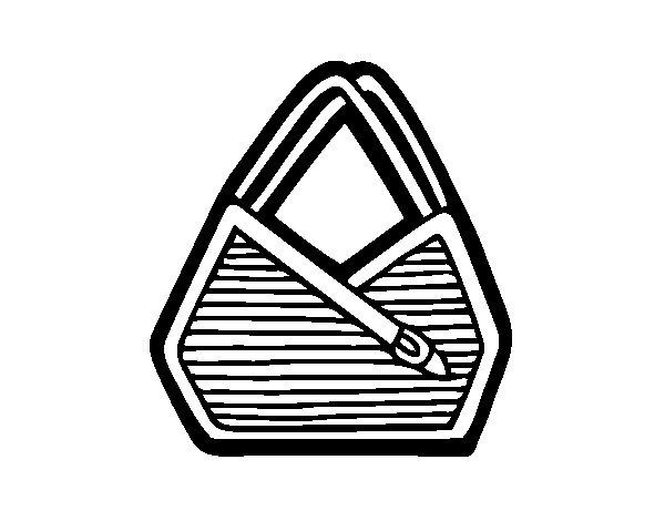 Dibujo de Bolso de hombro para Colorear