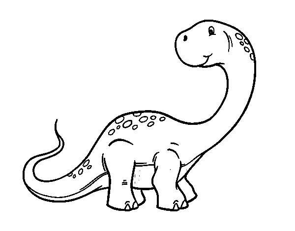 Dibujo de Brachiosaurus para Colorear - Dibujos.net