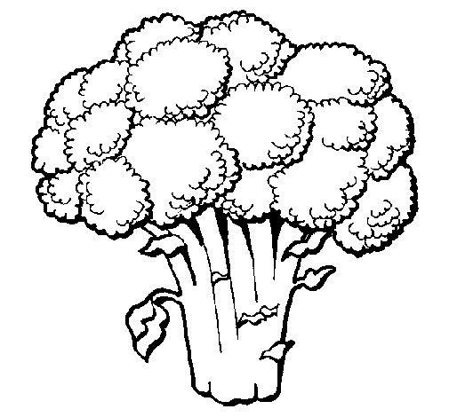 Dibujo de Brócoli 1 para Colorear