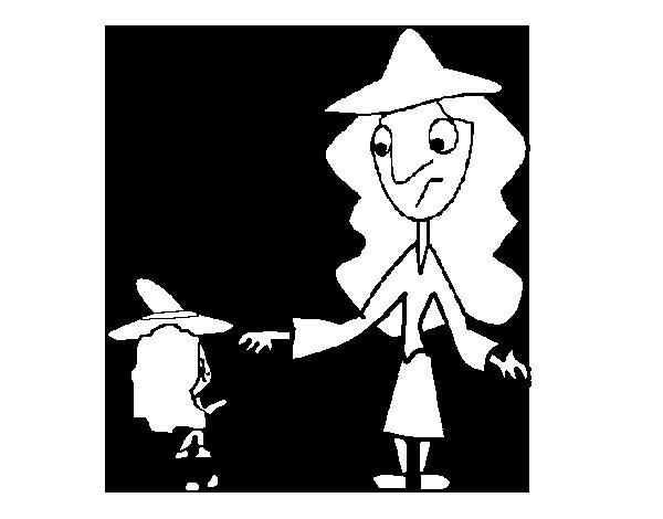 Dibujo de Brujas para Colorear