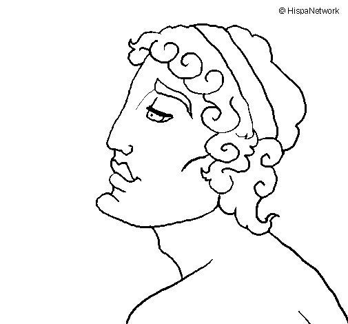 Dibujo de Busto joven para Colorear