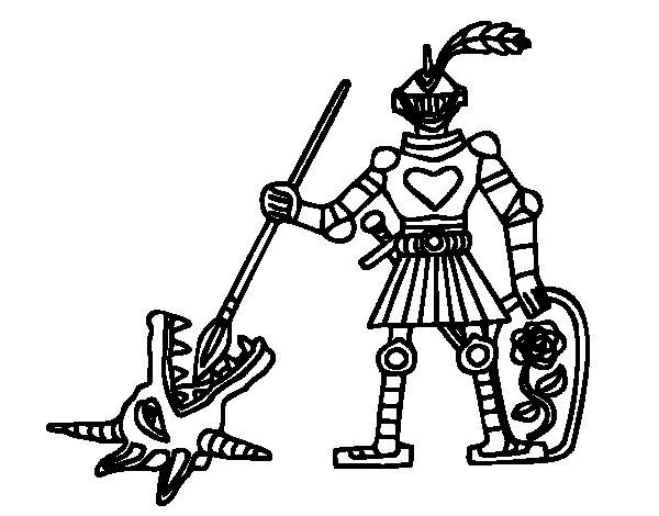 Dibujo de Caballero San Jorge para Colorear