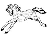 Dibujo de Caballo corriendo 1 para colorear