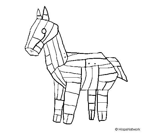 Dibujo de Caballo de Troya para Colorear