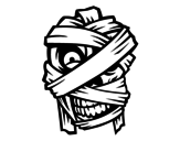 Dibujo de Cabeza de momia  para colorear