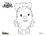 Dibujo de Callie en el oeste - Toby para colorear