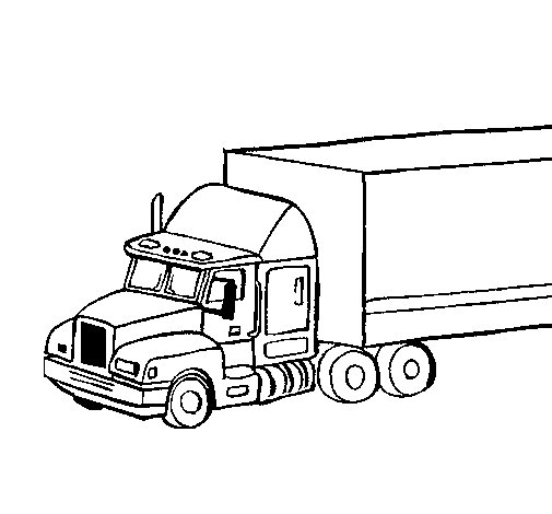 Dibujo de Camión tráiler para Colorear