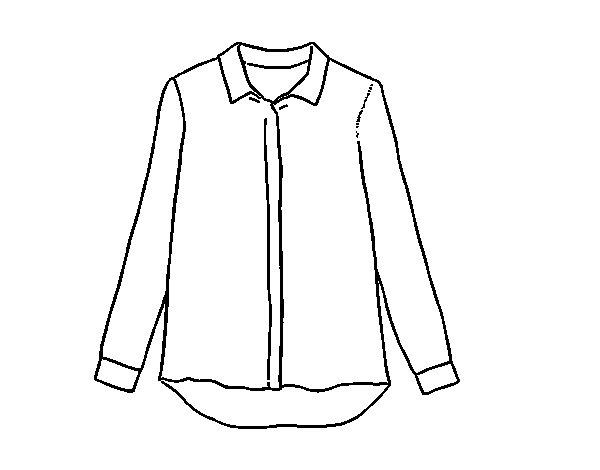 Dibujo de Camisa de seda para Colorear - Dibujos.net