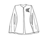 Dibujo de Camisa elegante con broche para colorear